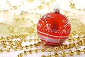 красный рождественские шар — Стоковое фото