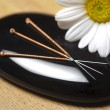Stock Photo: Alternative medicine with acupuncture