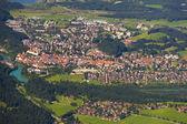 Panorama görüntülemek için city fuessen — Stok fotoğraf