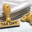 Stock Photo: Tax day april 15th
