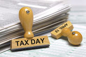 Tax day april 15th — Stock Photo