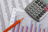 Financial business accounting — Stock Photo