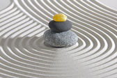 Japanese zen garden with stones and sand — Stock Photo