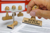 Rules and regulations — Stock Photo