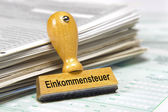 Income tax - Einkommensteuer — Stock Photo