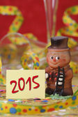 Talisman in marzipan for new year 2015 — Stock Photo