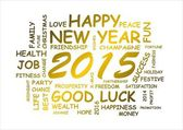 Word cloud for new year 2015 — Stock Photo