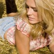 Beautiful country girl — Stock fotografie #2470471