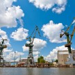 Cranes - old shipyard — Stock Photo