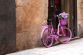 Pink bike — Stock Photo