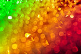 Three-colored defocused light reflections — Stock Photo