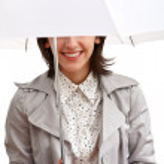 Smiling girl and umbrella — Stock Photo #2562517