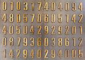 Golden digits — Stock Photo