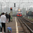 Commuter train arrives — Stockfoto #13493453