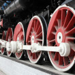 Novosibirsk. Wheels of the old locomotive — Stock Photo #13493489