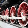 Novosibirsk. Wheels of the old locomotive — Stock Photo