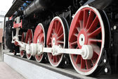 Novosibirsk. Wheels of the old locomotive — Stock Photo