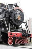 Novosibirsk. Memorial of the old locomotive — Stock Photo