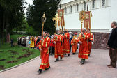 Moscow region, Butovo polygon. Cross parade in memory of New Russian Saints — Stock Photo