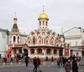 Moskova. kırmızı kare kazansky kilisesi — Stok fotoğraf