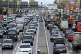 Moscow. Day traffic jam — Stock Photo