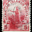 Post stamp of Hawaii Island — Stock Photo