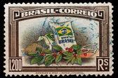Post stamp of Brazil — Stock Photo