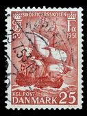 Post stamp of Denmark — Stock Photo