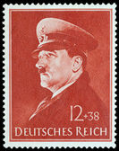 Post stamp printed in Germany — Stock Photo