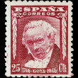 Stock Photo: SPAIN, CIRC1946 - Post stamp printed in Spain