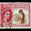 Stock Photo: SOMALIA, CIRC1920 - Post stamp printed for Somalia
