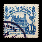 Private post stamp of Germany — Stock Photo