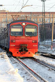 RUSSIA, MOSCOW, 25th February 2013 - The regional express arrives to Moscow — Stock Photo