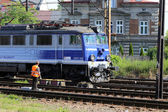 Polish Railways locomotive — Stock Photo