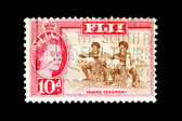 Post stamp of Fiji — Stock Photo