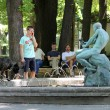 Belgrade, Serbia. Fountain with msculpture — Stock Photo #36360191
