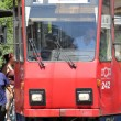 Tramway in Belgrade — Stock Photo