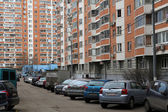 Moscow. In the new district yard — Stock Photo