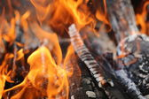 Open air fire — Stock Photo