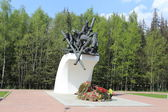 MOSCOW, RUSSIA, CIRCA 2013 - Monument in memory of special way build soldiers in WWII circa 2013 in Moscow, Кussia — Stock Photo