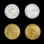 Set of African coins of Kenya and Tanzania — Stock Photo