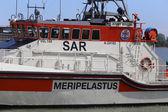 """Ferry boat """"Jenny Wihuri"""" stays in the seaport of Helsinki, Finland — Stock Photo"""