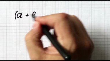 Binomial theoremes — Stock Video