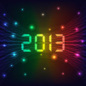 2013 New year background — Stock Vector