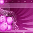 Pink christmas balls abstract — Stock Vector