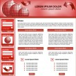 Website template design red — Stock Vector