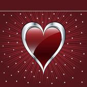 Valentine love heart — Stock Vector