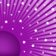 Abstract Background Purple with White Stars — Stock Vector