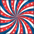 American flag stars and swirly stripes — Stockvector  #4836537