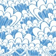 ILLUSTRATION OF A BACKGROUND OF ABSTRACT BLUE SCALLOP SKETCHES - Stock Vector